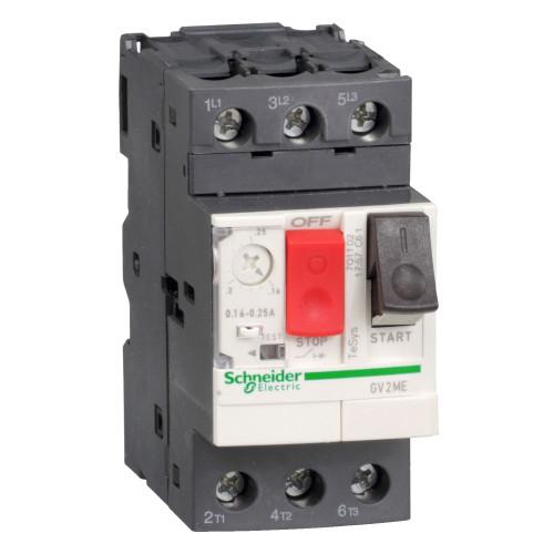 Выключатель автоматический для защиты электродвигателей Schneider Electric GV2ME08 2.5-4А GV2 управление кнопками